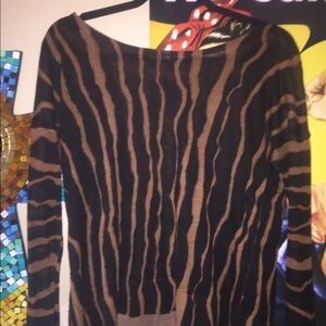 LOFT Boatneck printed sweater